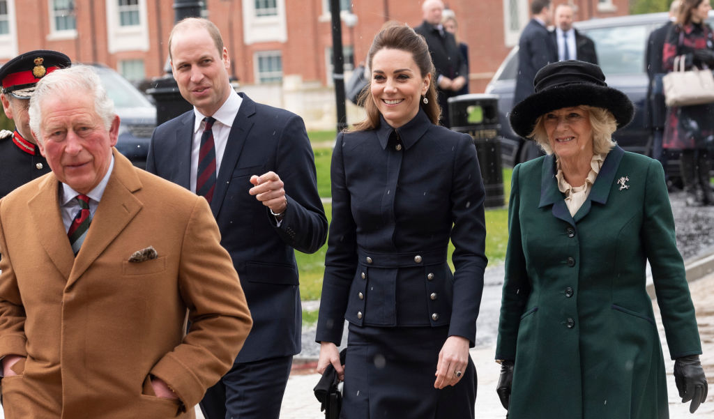 Prince Charles, Prince William, Kate Middleton, and Camilla Parker Bowles