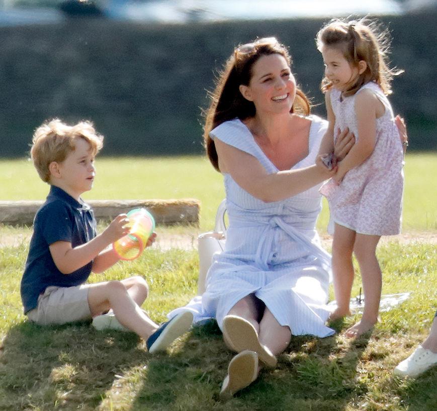 Prince George, Kate Middleton, and Princess Charlotte
