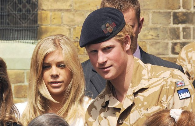 Prince Harry and Chelsy Davy on May 5, 2008