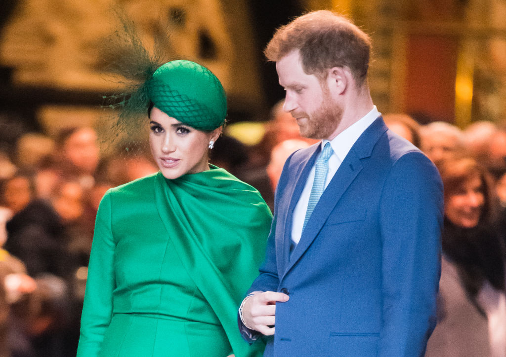 Prince Harry and Meghan Markle attend the Commonwealth Day Service 2020