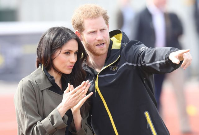 Prince Harry and Meghan Markle attend the U.K. team trials for the 2018 Invictus Games on April 8, 2018