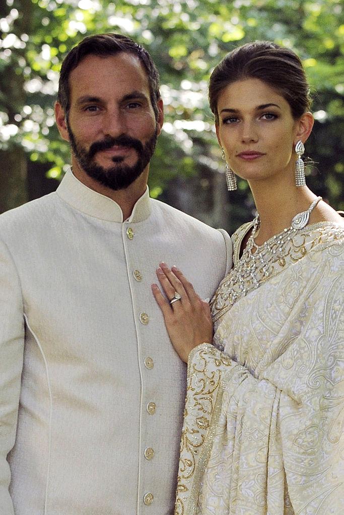 Prince Rahim and Princess Salwa Aga Khan at their wedding