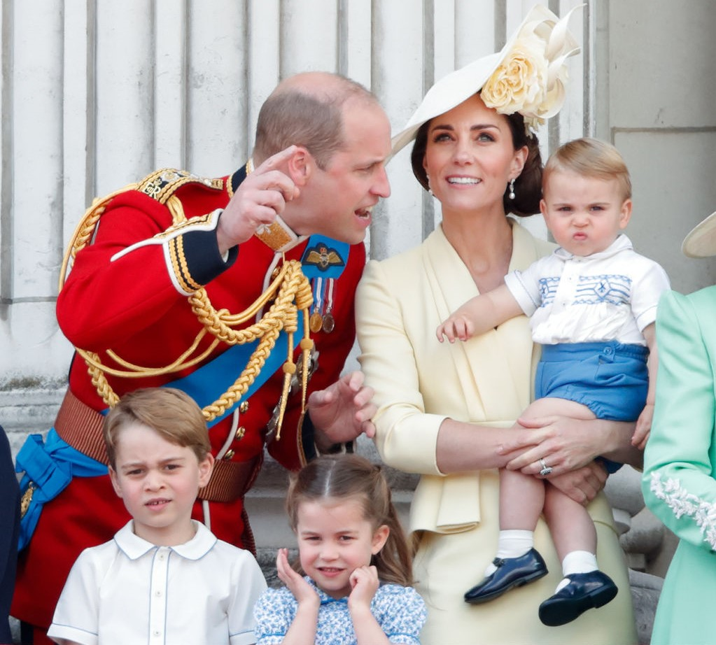 Prince William, Kate Middleton, Prince George, Princess Charlotte, and Prince Louis