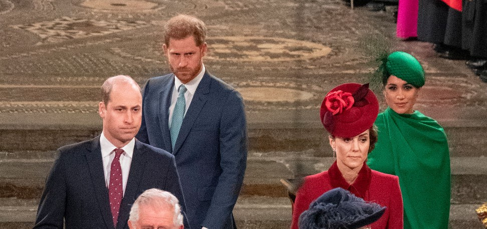 Prince William, Prince Harry, Kate Middleton, and Meghan Markle