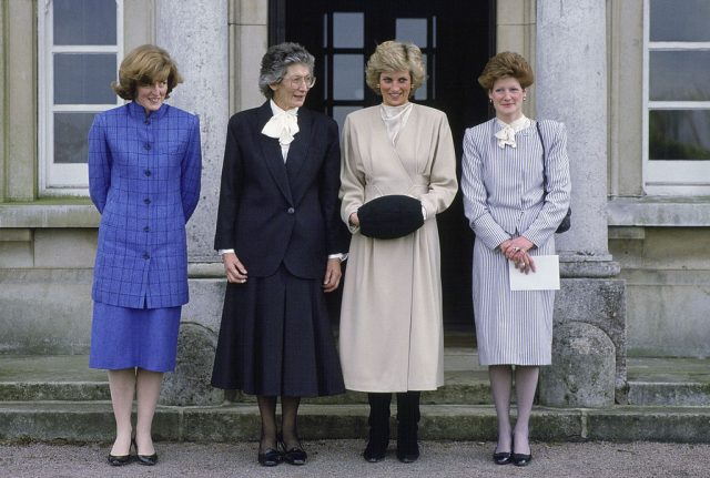 Princess Diana and her sisters meet the headmistress of West Heath School