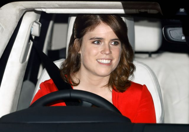 Princess Eugenie of York attends a Christmas lunch for members of the British royal family on Dec. 18, 2019