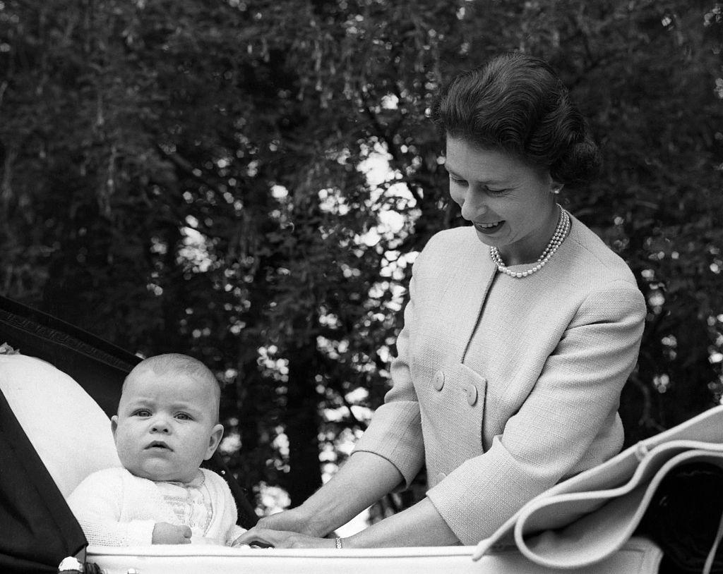 Queen Elizabeth and Prince Andrew