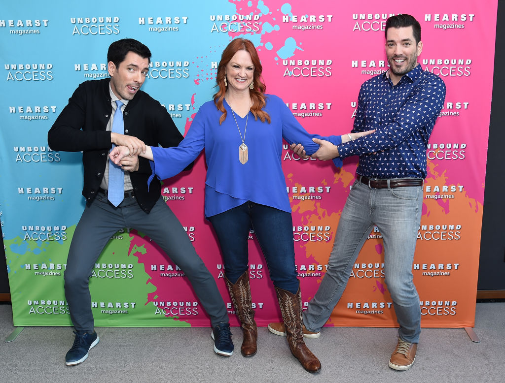 Ree Drummond with Property Brothers Jonathan Scott and  Drew Scott | Michael Loccisano/Getty Images for Hearst