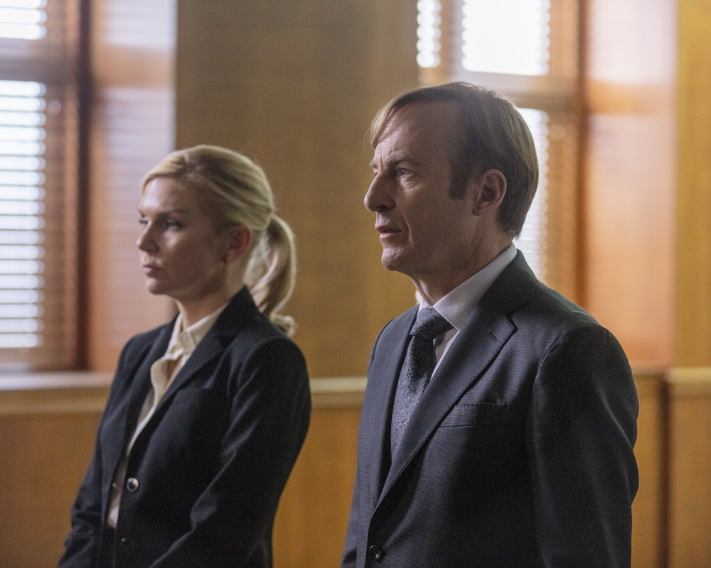 Better Call Saul: Rhea Seehorn and Bob Odenkirk