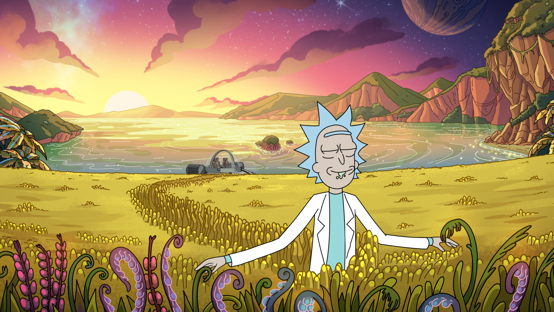 a scene from 'Rick and Morty' Season 4