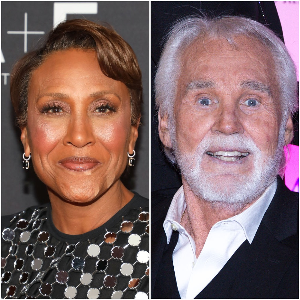 Robin Roberts and Kenny Rogers