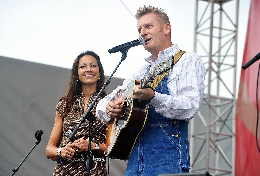 Rory Feek and Joey Feek of the band Joey & Rory perform on the Chevrolet Riverfront Stage