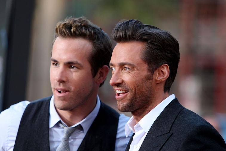 Ryan Reynolds and Hugh Jackman on the red carpet