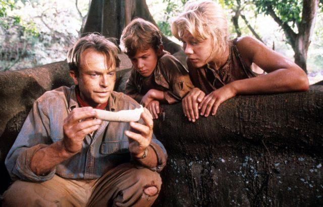 Sam Neill, Joseph Mazzello, and Ariana Richards in 'Jurassic Park'