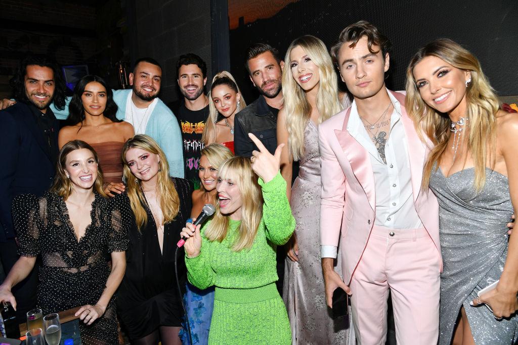 Season 1 Cast of 'The Hills: New Beginnings' with singer Natasha Bedingfield on June 19, 2019