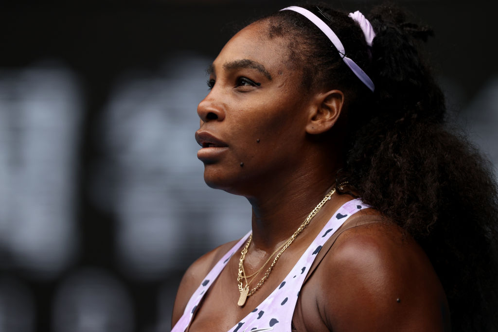 Serena Williams looking off camera