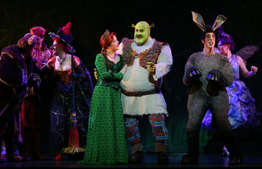 Nat Jobe plays the role of Donkey, Ben Mingay the role of Shrek and Lucy Durack the role of Princess Fiona