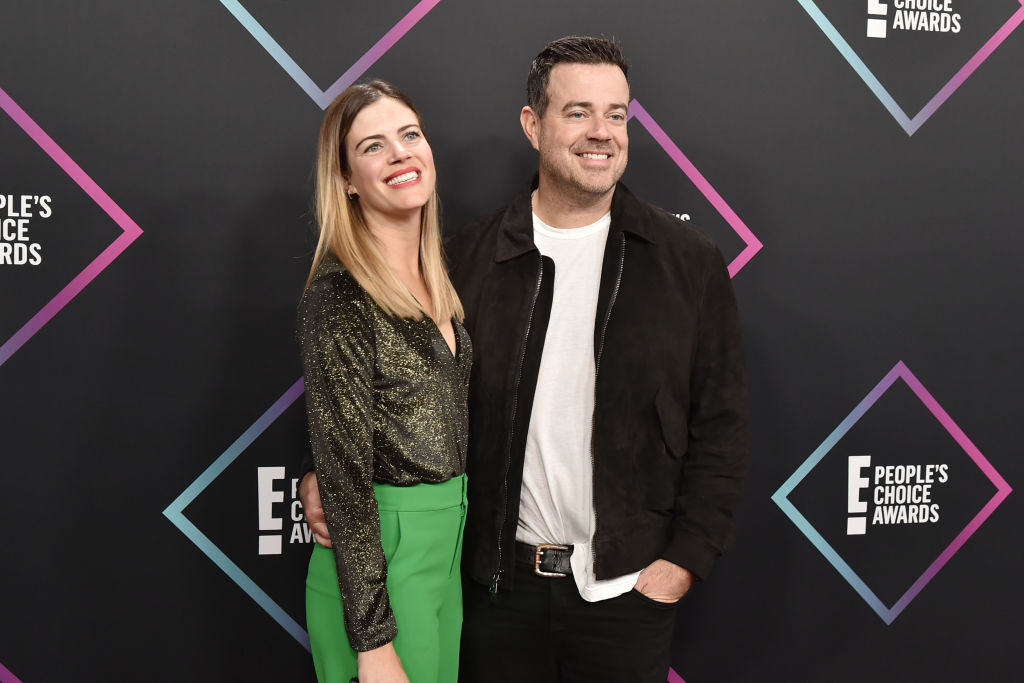 Siri Pinter and Carson Daly arrive at E! People's Choice Awards