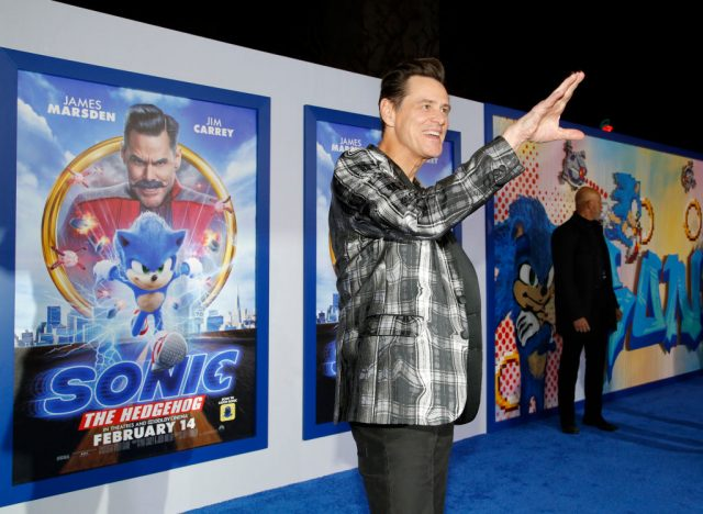Jim Carrey at a 'Sonic The Hedgehog' screening