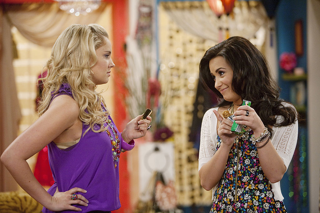Demi Lovato and Tiffany Thornton of Disney Channel's 'Sonny With a Chance'