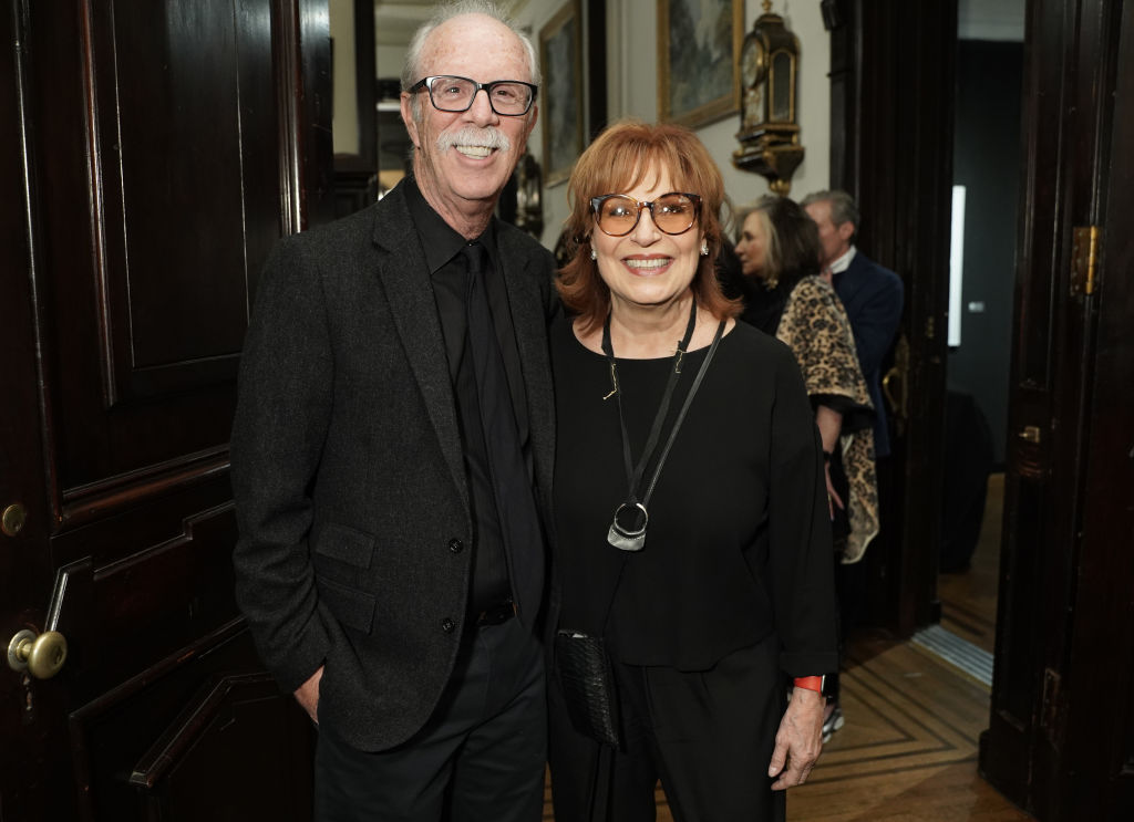 Steve Janowitz and Joy Behar attend Joseph Fioretti exhibition at The National Arts Club