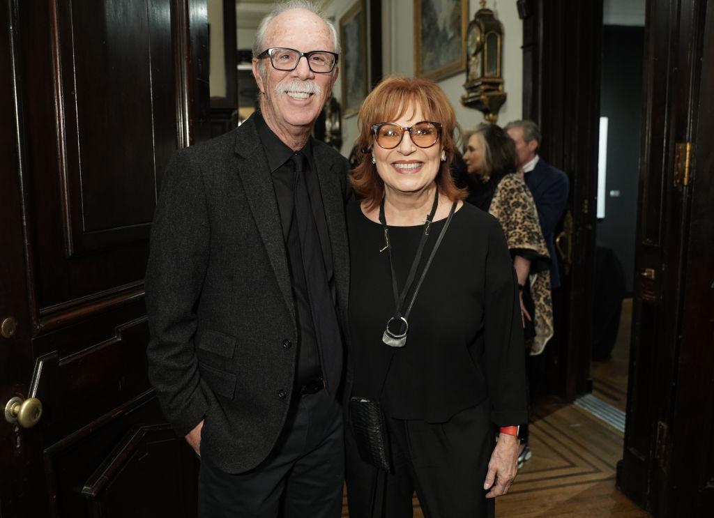 Steve Janowitz and Joy Behar attend Joseph Fioretti exhibition at The National Arts Club