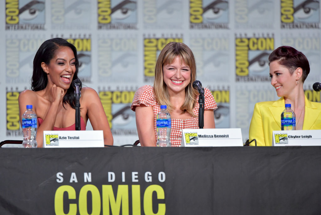 Azie Tesfai, Melissa Benoist and Chyler Leigh