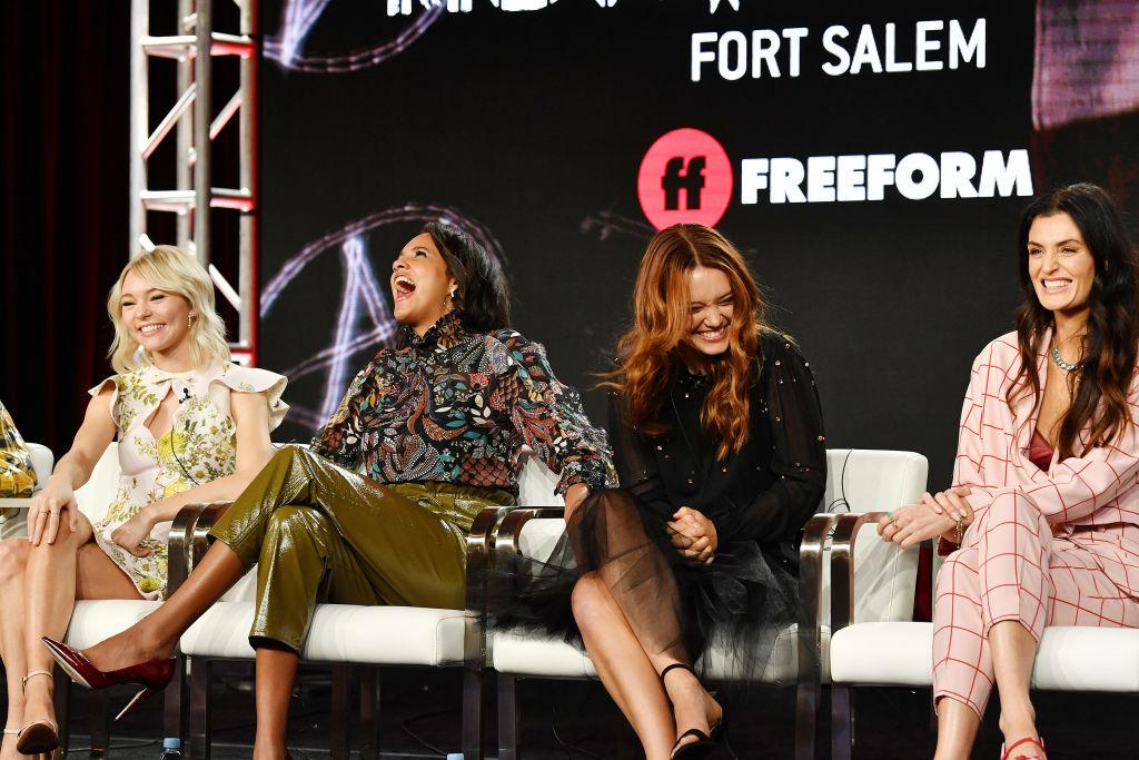 Taylor Hickson, Ashley Nicole Williams, Jessica Sutton, and Lyne Renee of Motherland: Fort Salem