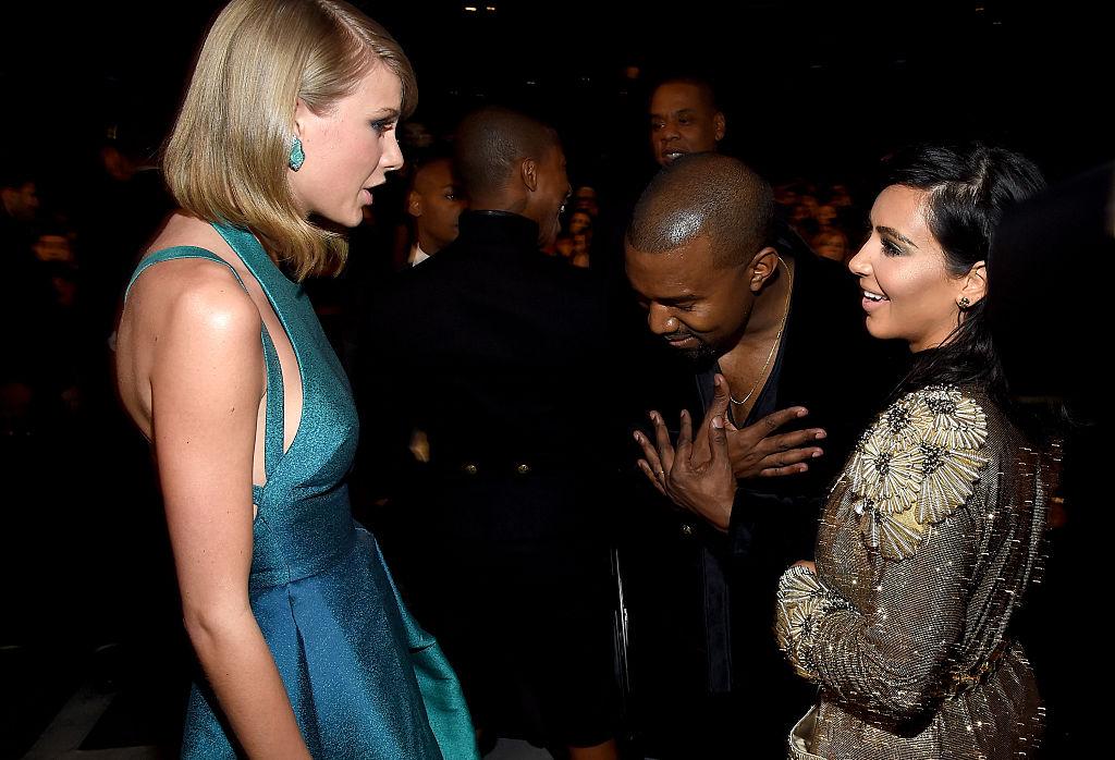Taylor Swift, Kanye West, and Kim Kardashian West