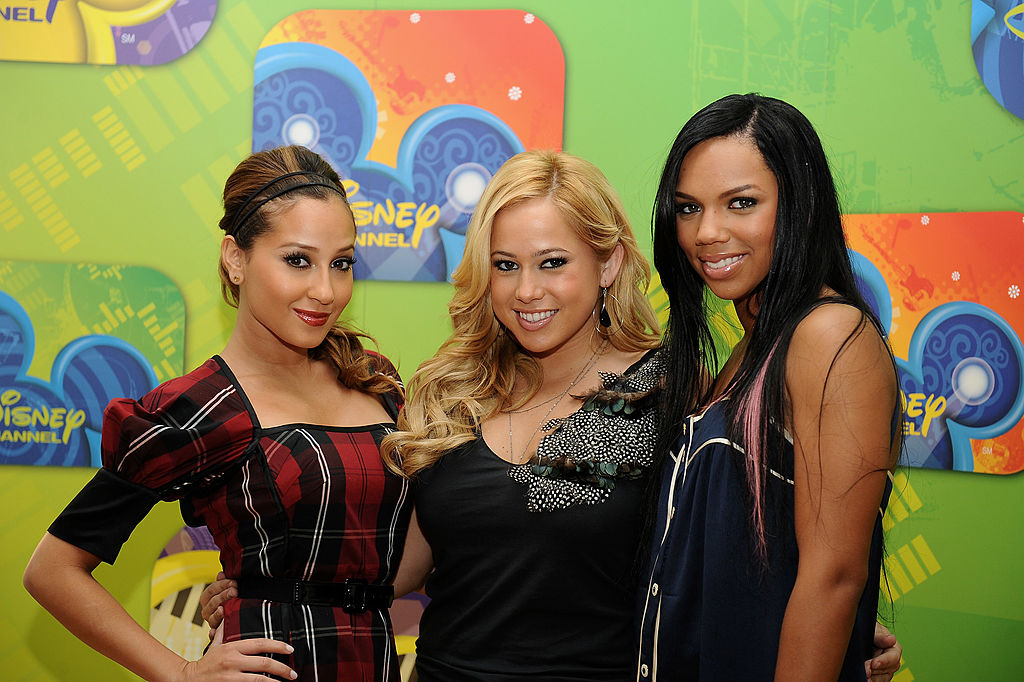 Adrienne Bailon, Sabrina Bryan and Kiely Williams of The Cheetah Girls on the red carpet in September 2008