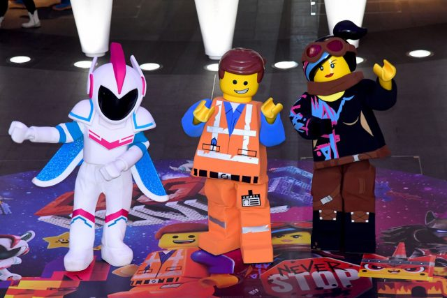 'The Lego Movie 2' characters General Mayhem, Emmet and Lucy