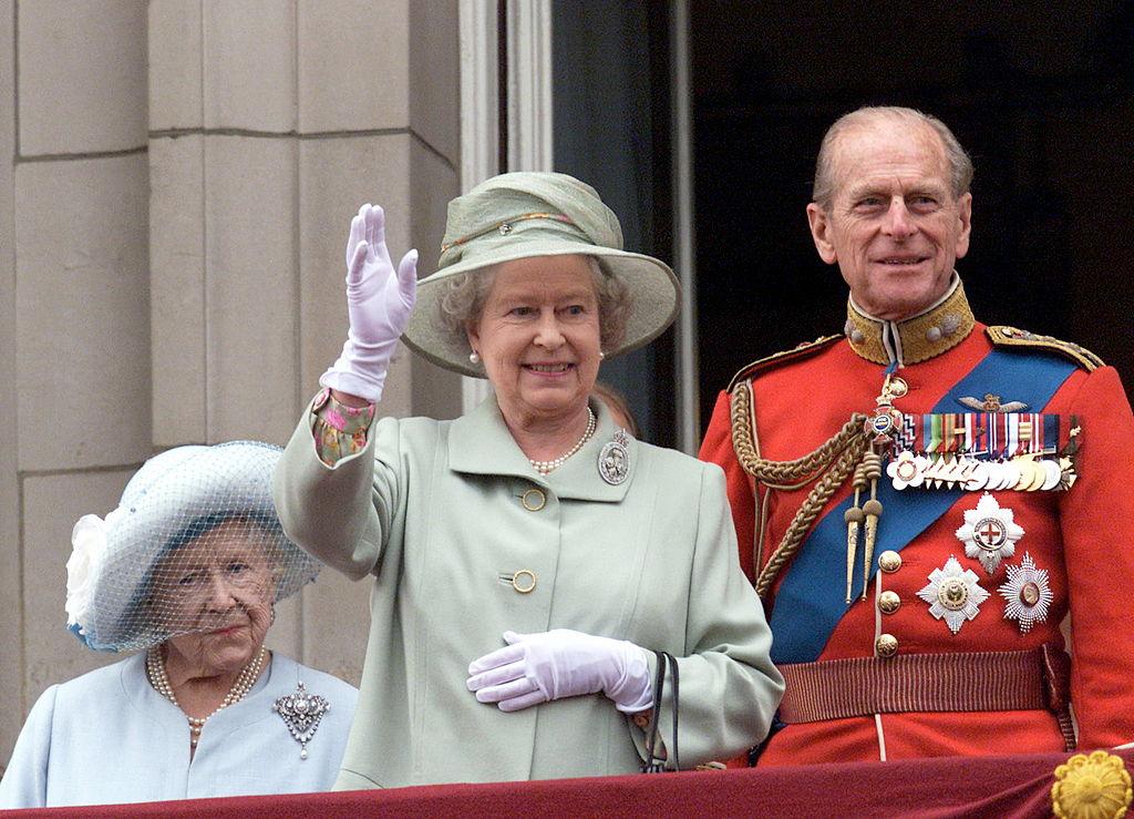 The Queen Mother, Queen Elizabeth II, and Prince Philip
