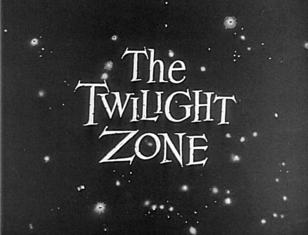 Opening credits of the series, 'The Twilight Zone'