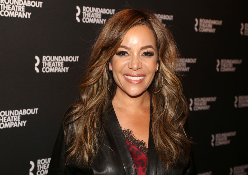 """Sunny Hostin poses at the opening night of """"A Soldier's Play"""""""