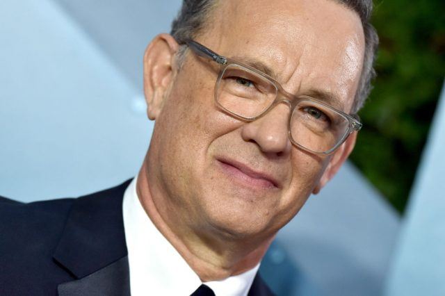 Tom Hanks arrives at the 26th Annual Screen Actors Guild Awards on Jan. 19, 2020