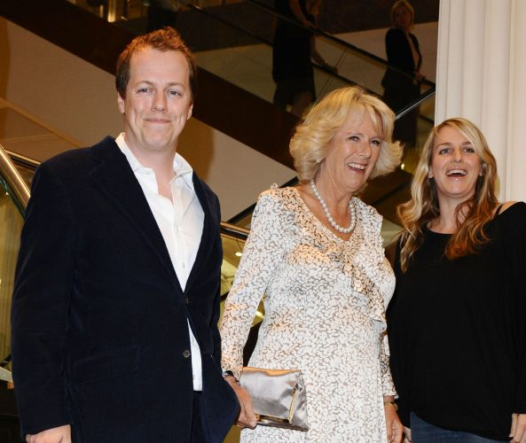 Tom Parker Bowles, Camilla Parker Bowles, and Laura Lopes at book launch on Sept. 9, 2009