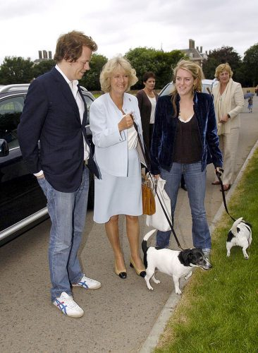 Tom Parker Bowles, Camilla Parker Bowles, and Laura Lopes in 2005