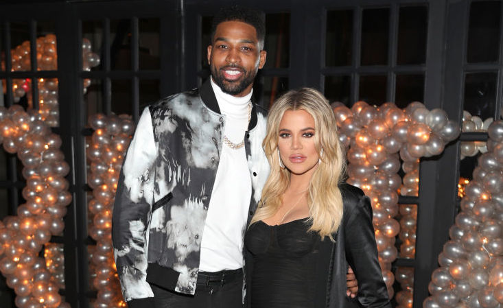 Tristan Thompson and Khloé Kardashian at an event in March 2018