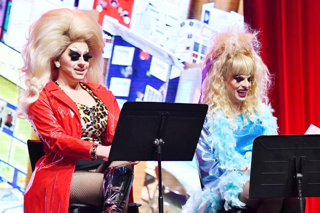 Trixie Mattel and Katya Zamolodchikova perform onstage