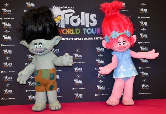 'Trolls' characters at a photo session for 'Trolls World Tour'
