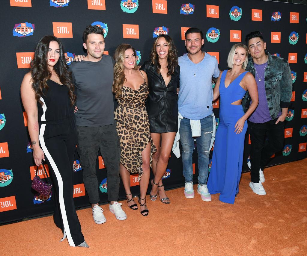 Kate Maloney, Tom Schwartz, Brittany Cartwright, Kristen Doute, Jax Taylor, Ariana Madix and Tom Sandoval of Vanderpump Rules