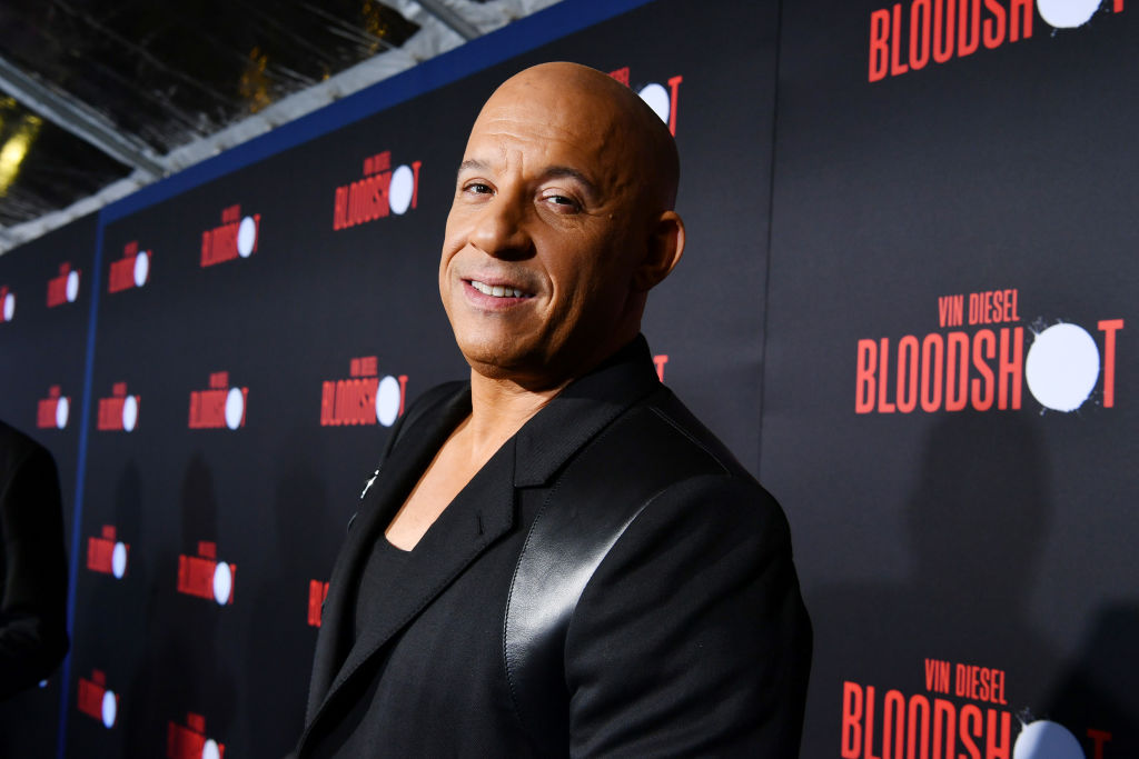 """Vin Diesel attends the premiere of Sony Pictures' """"Bloodshot"""""""