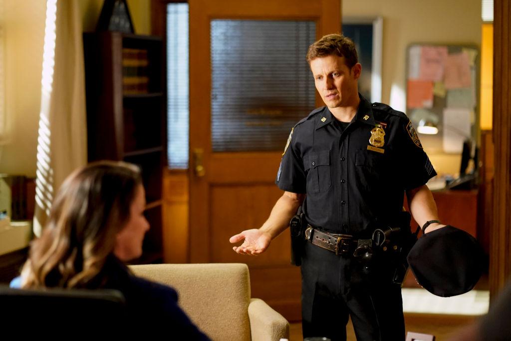 Will Estes and Bridget Moynahan on Blue Bloods   John Paul Filo/CBS via Getty Images