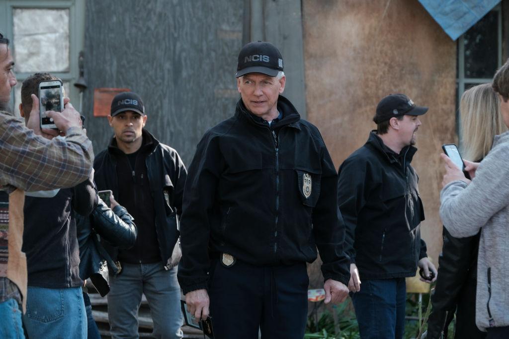Wilmer Valderrama, Mark Harmon, and Sean Murray on NCIS    Eddy Chen/CBS via Getty Images