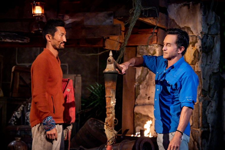 Yul Kwon and Jeff Probst