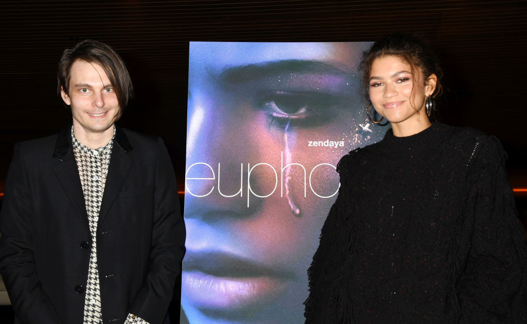 """Sam Levinson and Zendaya attend the HBO """"Euphoria"""" FYC at the Landmark Theaters"""