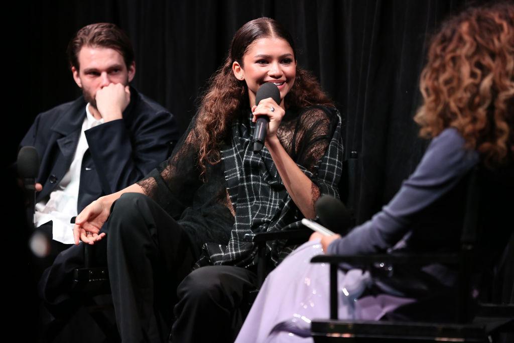Writer/director Sam Levinson, actress/singer Zendaya and moderator Elaine Welteroth
