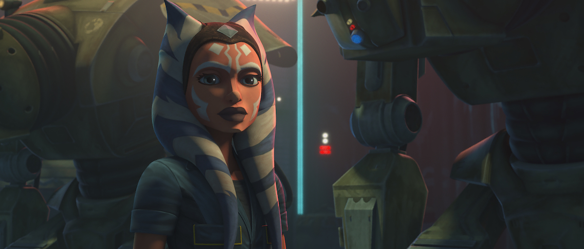 "Ahsoka Tano in Season 7, Episode 5 of 'The Clone Wars,' ""Gone With a Trace."""