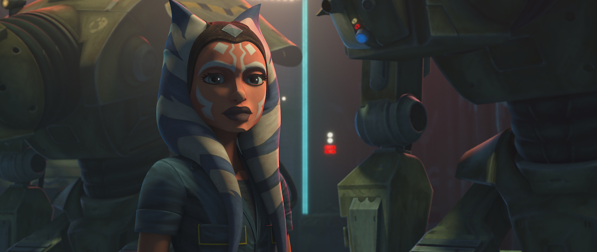 """Ahsoka Tano is in the underworld of Coruscant in Season 7, Episode 5, """"Gone With a Trace,"""" 'The Clone Wars.'"""