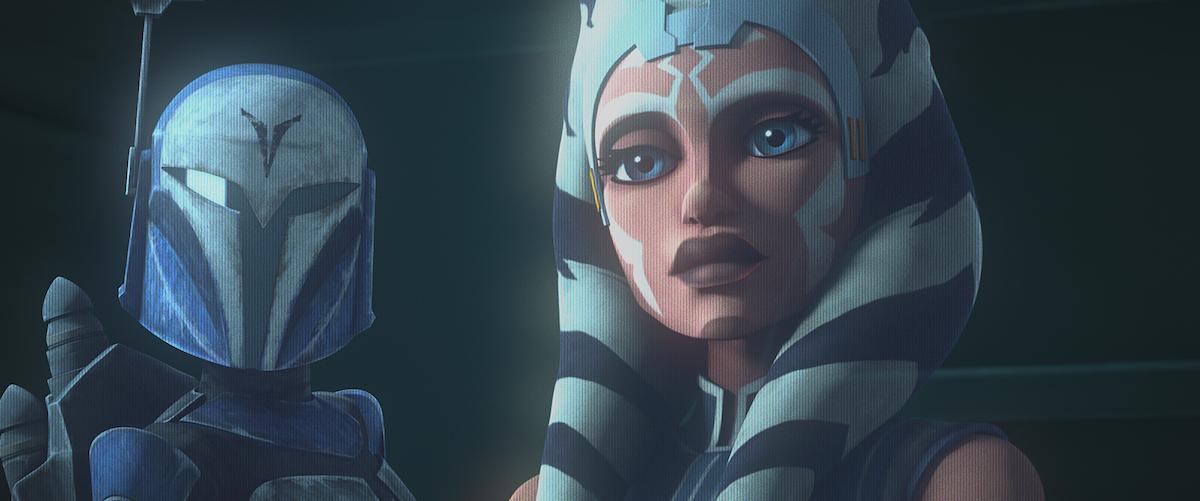 Bo-Katan and Ahsoka Tano in Season 7 of 'The Clone Wars.'